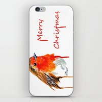 robin iPhone & iPod Skins featuring Robin by Paint the Moment