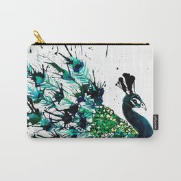 Peacock profile ink splatter Carry-All Pouch