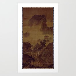 Sesshu Toyo Landscape of Four Seasons - Fall Art Print