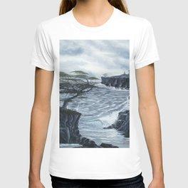 Rocky Coast, Windswept Coast Painting T-shirt