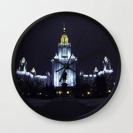 Night Life of Alma Mater III Wall Clock