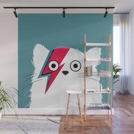 Cat Hero White Wall Mural