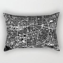Madrid city map black&white Rectangular Pillow
