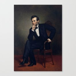 President Abraham Lincoln Painting Canvas Print