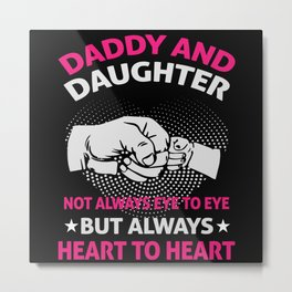 Father And Daughter Metal Print