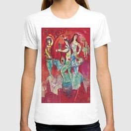 Carmen (Over Paris) by Marc Chagall T-shirt