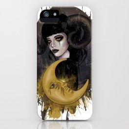Aries girl | Gothic zodiac iPhone Case