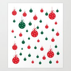 Chistmas balls Art Print