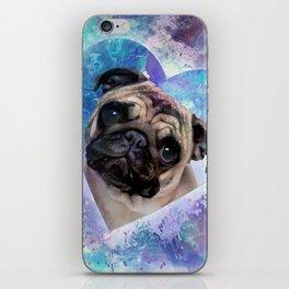 Pug dog Digital Art iPhone Skin
