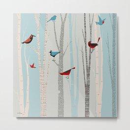 Winter Birds / 03 Metal Print