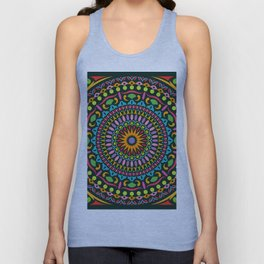 Colorful Geometric Mandala 01 Unisex Tank Top