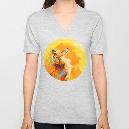 Blissful Light - Fox portrait Unisex V-Neck
