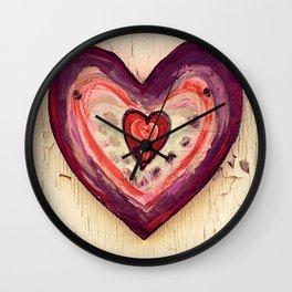 Painted Heart Wall Clock