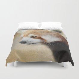 Red Panda Watching - Wildlife Duvet Cover