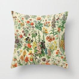 Adolphe millot Fleurs A Throw Pillow
