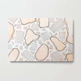Abstract watercolor in modern style with marble lines.No.82 Metal Print