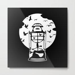 Storm Lantern Metal Print