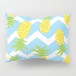 Blue Pineapple Pattern Pillow Sham