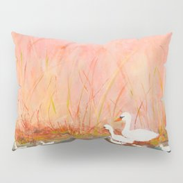 Gooses day out on the pond Pillow Sham