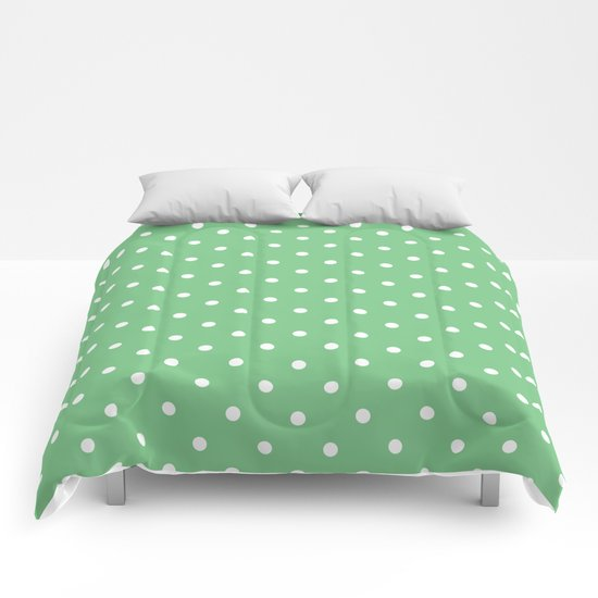 Sage Polka Dots by colorpopdesign