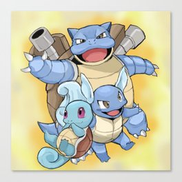The evolutions of Squirtle Canvas Print