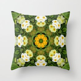 Happy Dogs in the garden... Throw Pillow