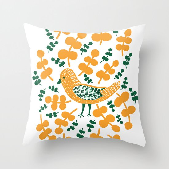 Birdie Bird Throw Pillow