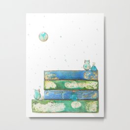 Alley Cats and the Blue Moon Metal Print