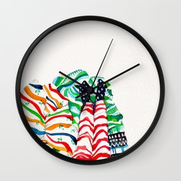 Wrapped up & Warm Tea Wall Clock