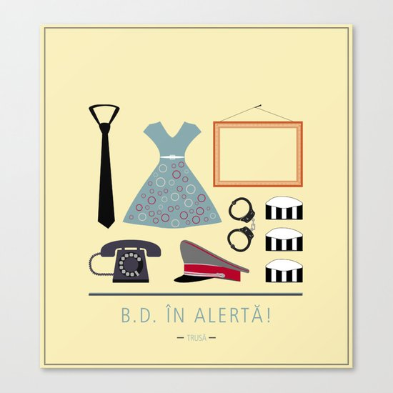 "ROMANIAN MOVIE ""B.D. IN ALERTA!"" Canvas Print"