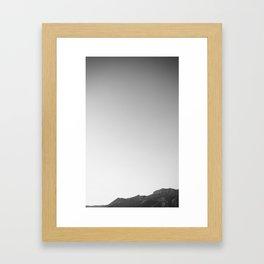 White Sky Framed Art Print