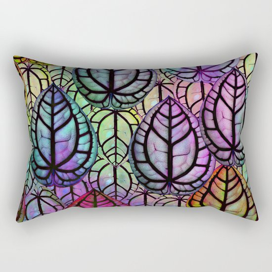 Multicolored Leaves Rectangular Pillow