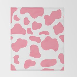 Strawberry cow Throw Blanket