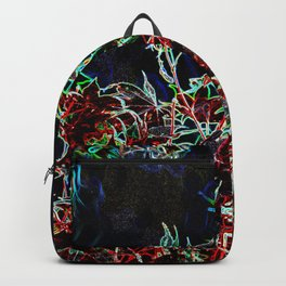 MODERN ABSTRACT FALL LEAVES GLOWING PENCIL DRAWING Backpack