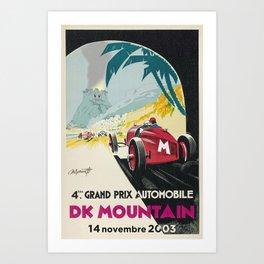 DK Mountain Grand Prix Art Print