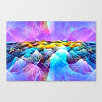 data Canvas Prints featuring Data Sea by NatalieCatLee