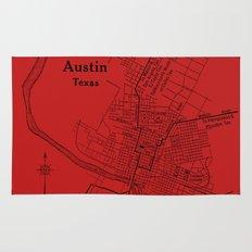 Vintage Austin Red Rug