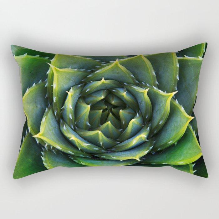 Green and thorns Rectangular Pillow