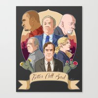 better call saul Canvas Prints featuring Better Call Saul by NessaSan