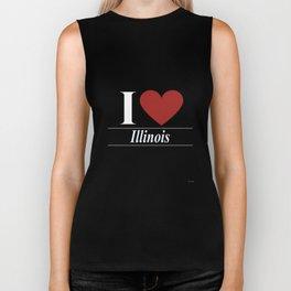 I Love Illinois Biker Tank