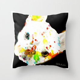 Color Me Frenchie Throw Pillow