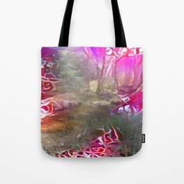 Pinked Wet Forest Tote Bag