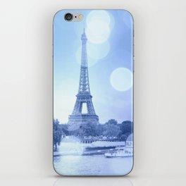 Paris Eiffel Tower Blue iPhone Skin