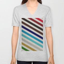 Modern Rainbow Pattern Unisex V-Neck