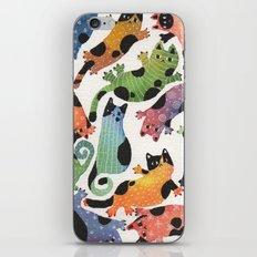 12 cats iPhone & iPod Skin