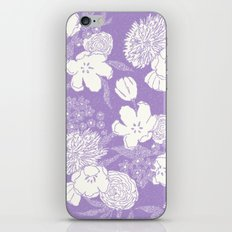 SKETCHY FLORAL: DUSTY LAVENDER iPhone Skin