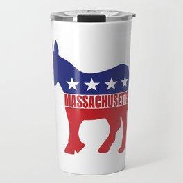Massachusetts Democrat Donkey Travel Mug