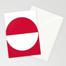 Flag of greenland 2-greenlandic,kalallit,inuit,thule,nuuk,tupilak. Stationery Cards