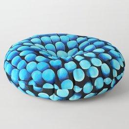 Blue Shag Floor Pillow