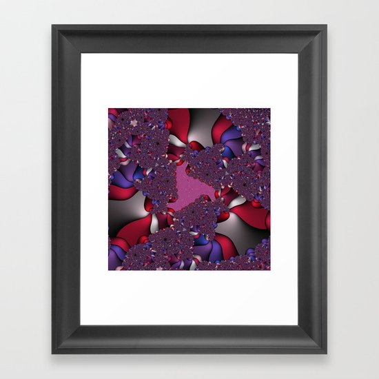 pink and purple fractal Framed Art Print